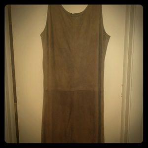 Liz Claiborne Vintage Brown Suede Dress